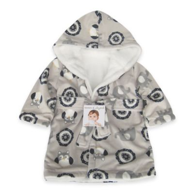 Blankets & Beyond Mandela Elephant Bathrobe in Navy