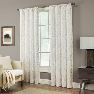 Pinehurst 63-Inch Rod Pocket Window Curtain Panel in Tan