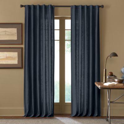 Cambria® Malta 108-Inch Rod Pocket/Back Tab Window Curtain Panel in Navy