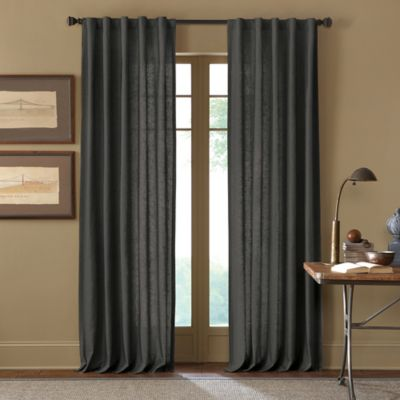 Cambria® Malta 120-Inch Rod Pocket/Back Tab Window Curtain Panel in Charcoal