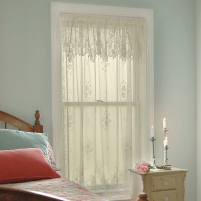 Heritage Lace® Tea Rose 63-Inch Rod Pocket Window Curtain Panel in Ecru