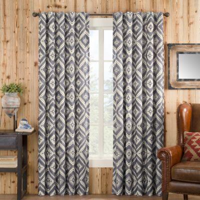 Feliz 108-Inch Rod Pocket Lined Window Curtain Panel in Grey