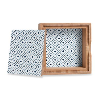 DENY Designs Social Proper Indigo Ascot Small Jewelry Box