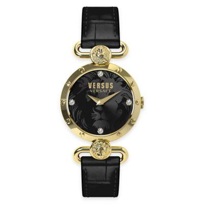 Versus by Versace Ladies' 34mm Sunnyridge Watch in Goldtone Stainless Steel w/ Black Dial