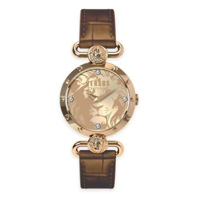 Versus by Versace Ladies' 34mm Sunnyridge Watch in Rose Stainless Steel w/ Champagne Dial