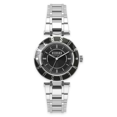 Versus by Versace Ladies' 34.5mm Logo Watch in Stainless Steel w/Black Dial