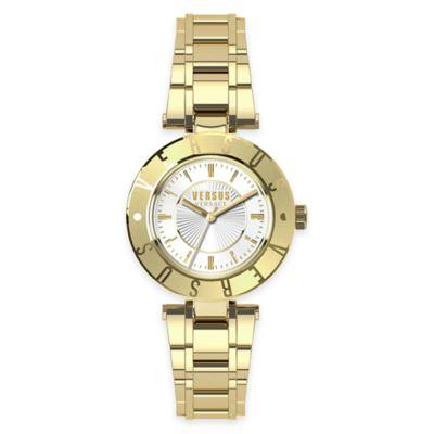 Versus by Versace Ladies' Logo Watch in Goldtone Stainless Steel w/ White Dial