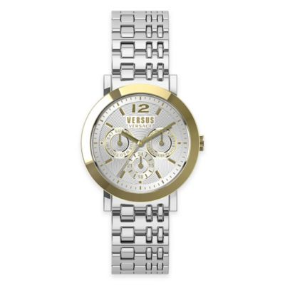 Versus by Versace Ladies' 37mm Manhasset Watch in Two-Tone Stainless Steel w/Silvertone Dial