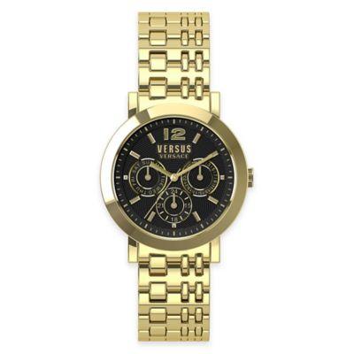 Versus by Versace Ladies' 37mm Manhasset Watch in Goldtone Stainless Steel w/ Black Dial