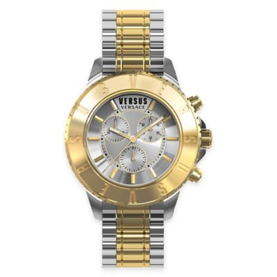 Versus by Versace Men's 44mm Chronograph Toyko Watch in Two-Tone Stainless Steel w/ Silvertone Dial