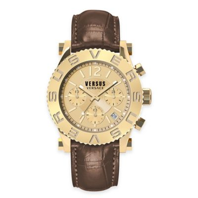 Versus by Versace Men's 42mm Chronograph Madison Watch in Rose Gold Stainless Steel