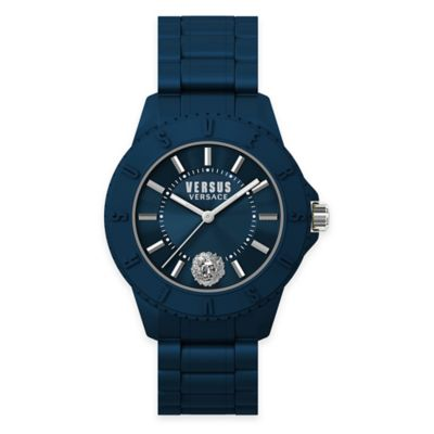 Versus by Versace Men's 42mm Toyko Watch in Blue Silicone w/ Blue Silicone Strap