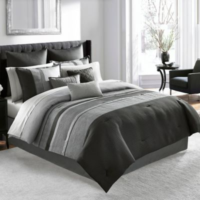 Manor Hill® Lowery King Comforter Set in Medium Grey