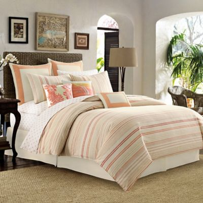 Tommy Bahama® La Scala Breezer King Duvet Cover in Papaya