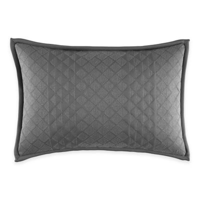 Manor Hill® Lowery Diamond Oblong Throw Pillow in Dark Grey