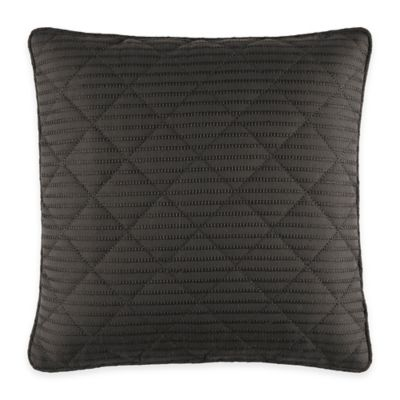 Manor Hill® Lowery Quilted Square Throw Pillow in Black