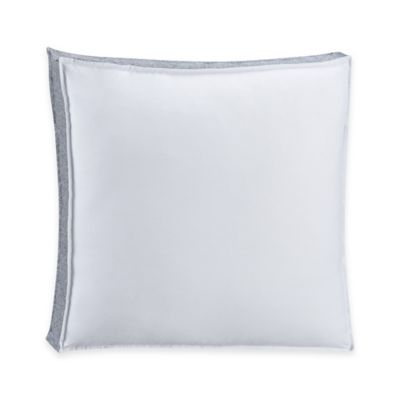 Harbor Bordered Square Throw Pillow in White