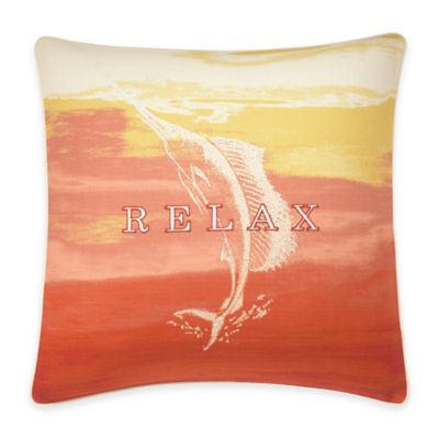 Tommy Bahama® La Scala Breezer Ombre Square Throw Pillow in Papaya