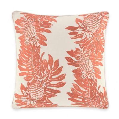 Tommy Bahama® La Scala Breezer Pineapple Square Throw Pillow in Papaya