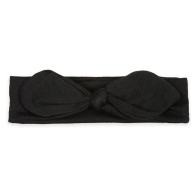 Capelli New York Infant Knot Jersey Headwrap in Black