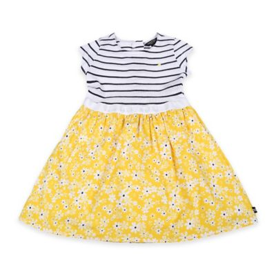 Nautica Kids® Size 12M 2-Piece Stripe Top and Printed Daisy Skirt Set
