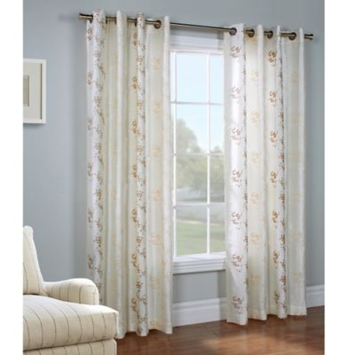 Commonwealth Home Fashions Josephina 84-Inch Grommet Top Window Curtain Panel in Ivory