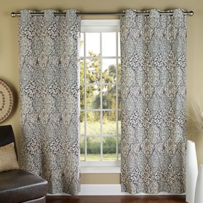 m.style Istanbul 84-Inch Grommet Top Window Curtain Panel Pair in Blue