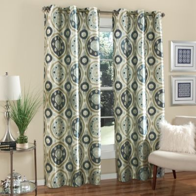Blue Window Curtain Pair