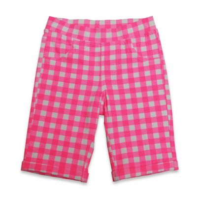 Kidtopia Size 3M Checkered Knit Bermuda Short in Pink