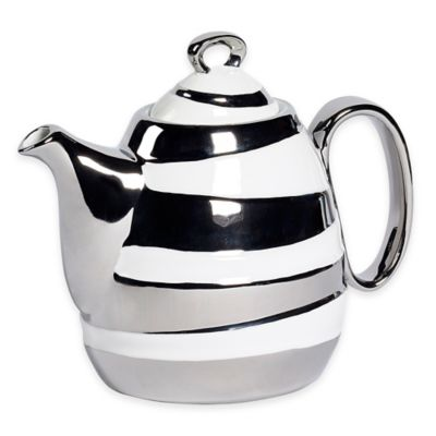 Studio TU® by Tabletops Unlimited® Sterling 37 oz. Teapot in Silver
