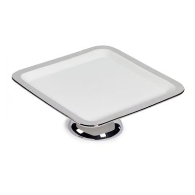 Studio TU® by Tabletops Unlimited® Sterling Medium Square Cake Plate in Silver