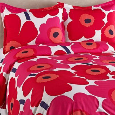 marimekko® Unikko Twin Duvet Cover in Red