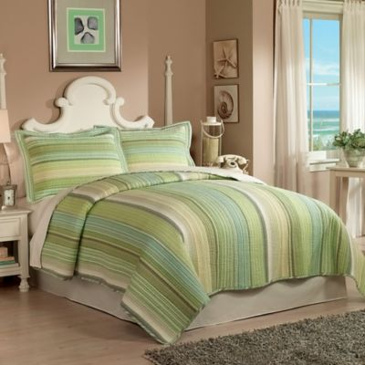 Sage Harbor Reversible Twin Quilt Set