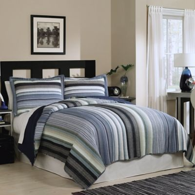 Water Mill Reversible Twin Quilt Set
