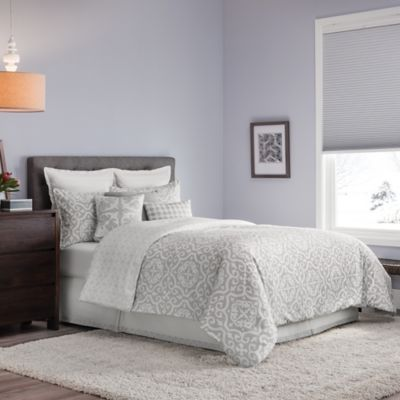 Real Simple® Irving Reversible Full/Queen Duvet Cover Set in Grey/White