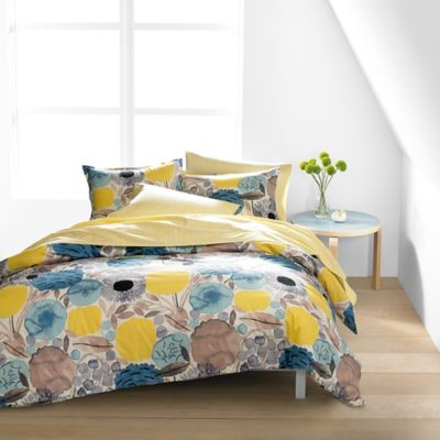 Marimekko Sitruunapuu Full/Queen Duvet Cover Set in Yellow