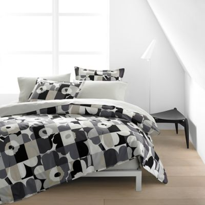 marimekko® Ruutu-Unikko Twin Duvet Cover Set in Grey