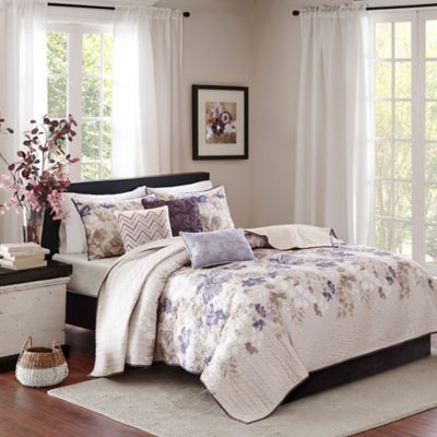 Madison Park Luna King Coverlet Set in Taupe