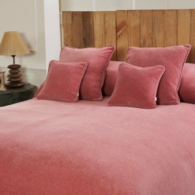 Mélange Chenille Twin Coverlet in Pink