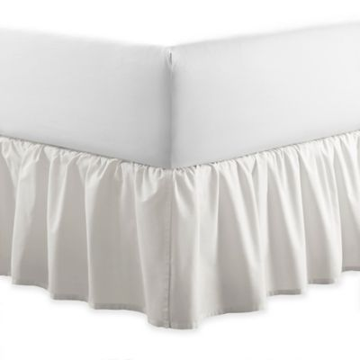 Laura Ashley® Ruffle Twin Bed Skirt in White