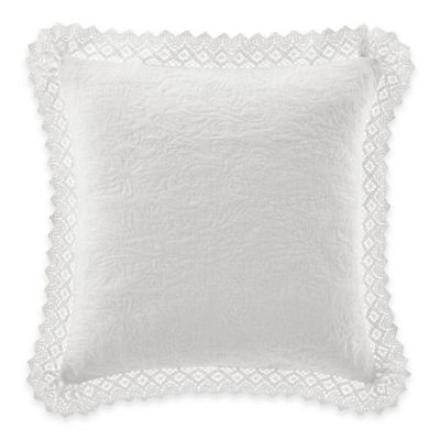 White Quilted Decorative Pillows : Buy Laura Ashley Quilted Throw Pillow in White from Bed Bath & Beyond