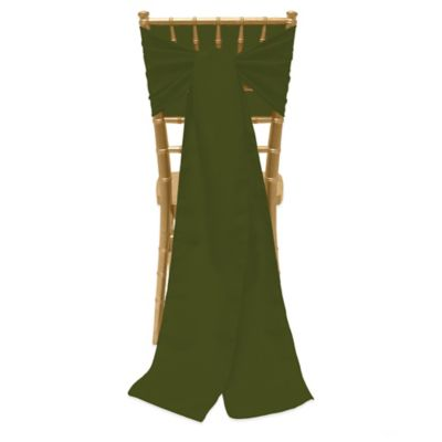 Basic Polyester Chair Ties in Olive