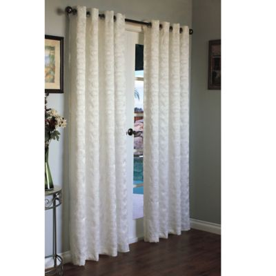 Commonwealth Home Fashions Mayan 84-Inch Grommet Window Curtain Panel in White