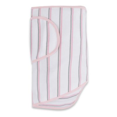 Miracle Blanket® White with Pink and Gray Stripes