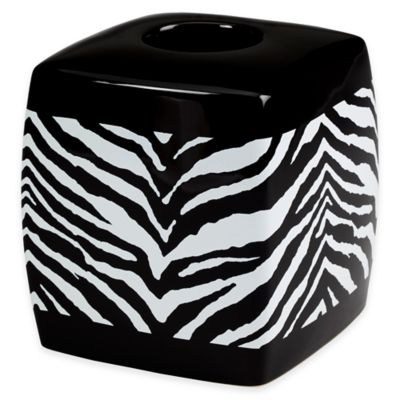 Creative Bath™ Zebra Boutique Tissue Box Cover