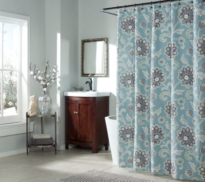 Ankara Shower Curtain in Blue