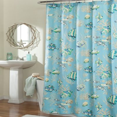 m.style Under the Sea Shower Curtain in Blue