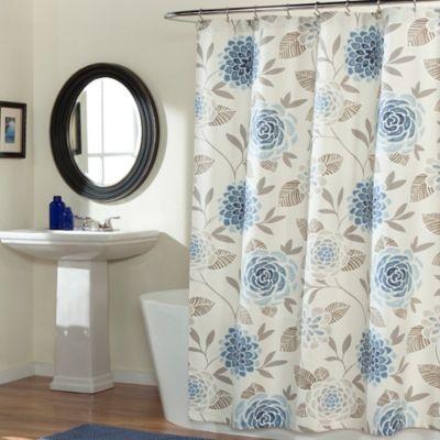 Jessica Shower Curtain in Blue