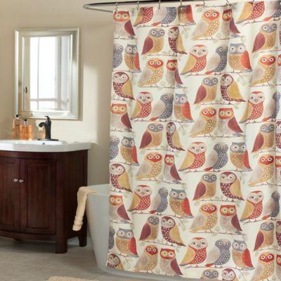 m.style Gossip Gals Shower Curtain in Marsala