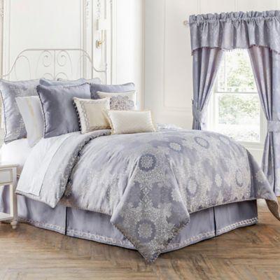 Waterford® Linens Veranda Reversible Queen Comforter Set in Lavender